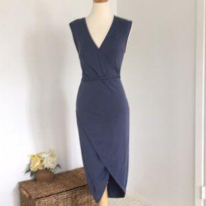 Anthropologie Dresses - Flattering blue dress
